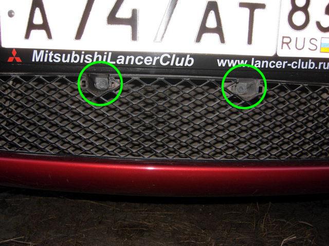 Снятие переднего бампера Лансер 10