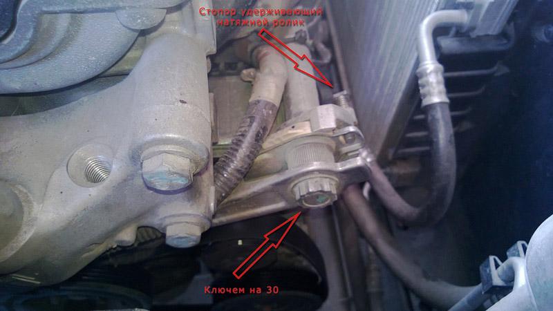 Замена ремня генератора Пежо 308